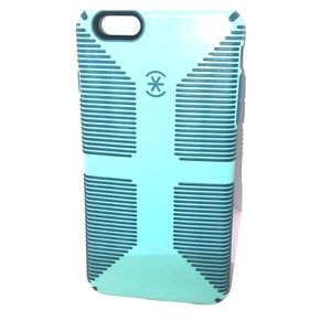 Speck turquoise and blue iPhone 6s Plus case